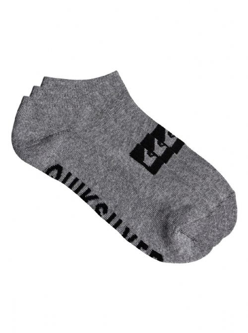 QUIKSILVER MENS SOCKS.NEW MULTI 3 PACK TRAINER ANKLE SPORTS GREY UK 7 - 10 9S 67